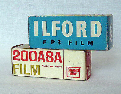 Lot of 2 Different 120 ( 6x9) Expires B&W Films. New Old Stoks.