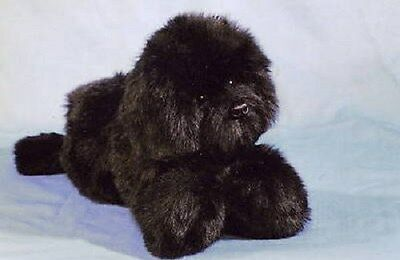 Black  Newfoundland Plush Puppy Replica/stuffed Animal
