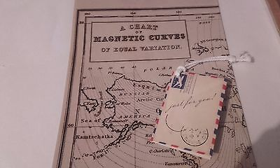 Men's Gentlemen Ye Olde Map Paper With Tag