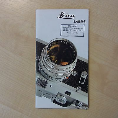 LEICA Leitz Lens Catalogue 1974