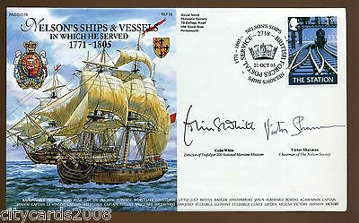2003 Royal Navy Cover Nelsons Ships and Vessels signed by White / Sharman