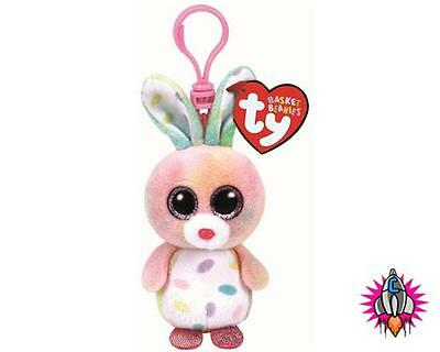 Ty Beanie Babies Bubby Easter Bunny Clip On Plush Soft Toy Keyring New