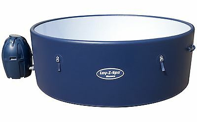 Bestway Lay-Z-Spa Monaco 8 Person Inflatable Heated Round Hot Tub - Blue - Argos