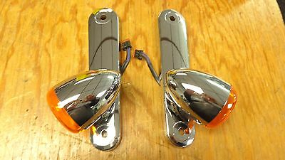 HARLEY DAVIDSON ORIGINAL FRONT TURN SIGNALS and Mounts Came From Street Glide