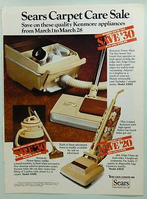 1981 Sears Kenmore Vacuum Cleaners & Carpet Care - Vintage Magazine Ad Page