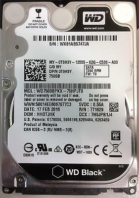 """WD 750GB WD7500BPKX 7200RPM SATA 2.5/"""" Laptop HDD Hard Drive For DELL HP PS3"""