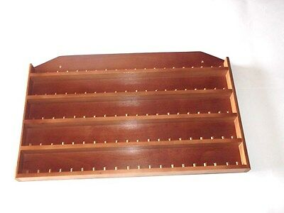 100pc ( 10 rows of 10 ) Wooden Thimble Display Rack with Sides (Mahogany)