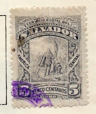 Salvador 1891 Early Issue Fine Used 5c. 148187
