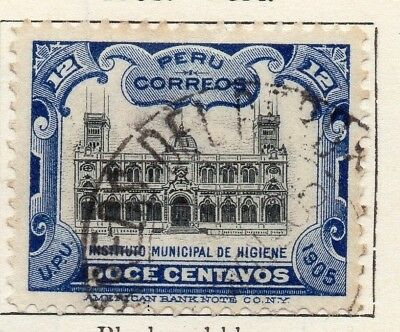 Peru 1905 Early Issue Fine Used 12c. 148209
