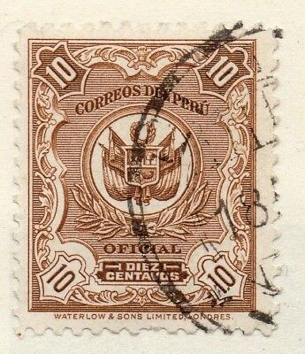 Peru 1909 Early Issue Fine Used 10c. 148227