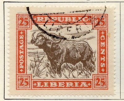 Liberia 1923 Early Issue Fine Used 25c. 148302