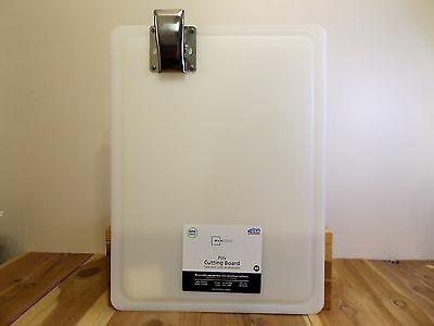 Fish Cleaning & Cutting Board w/Heavy Duty Stainless Steel Grip/Poly Fillet