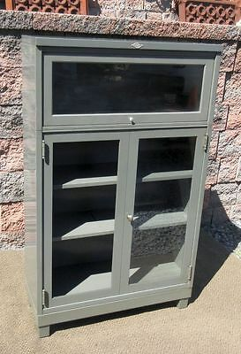 RARE Vintage ART METAL Stacking Tanker Cabinet Cupboard Bookcase & Barrister