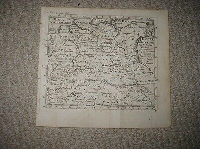 Antique 1750 Empire Of Germany Austria De Fer Copperplate Map Saxony Bohemia Nr