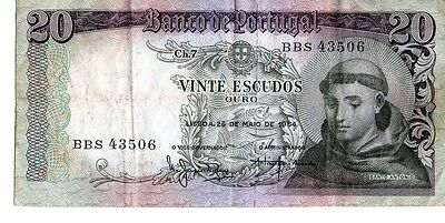 Portugal 1964 20 Escudos Currency