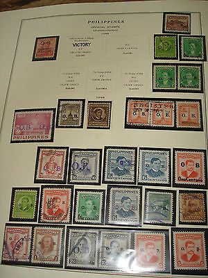 PHILIPPINES Islands LOT of  109 STAMPS  OB Overprints OFFICIALS & COMMEMORATIVES