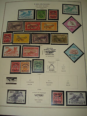 PHILIPPINES Islands LOT of 38 STAMPS 1928- 1970 Commemoratives & OLD! AIR POST !