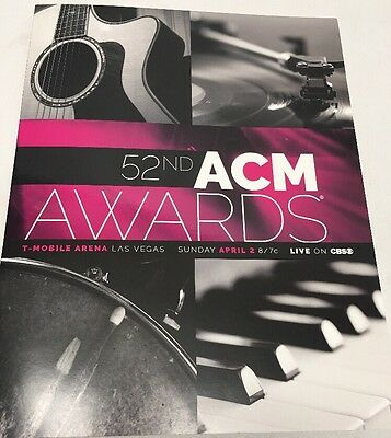 ACM Awards Program 2017 Academy of Country Music Awards Las Vegas SHIPS FREE