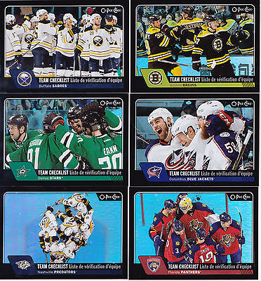16-17 OPC Florida Panthers Team Checklist /100  Rainbow Black OPEECHEE 2016
