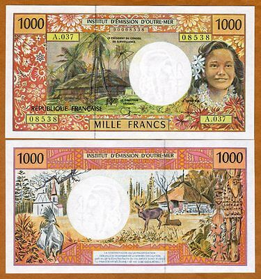 French Pacific Territories,  1000 Francs ND (1996) P-2, UNC