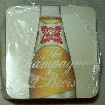 "100 Miller High Life ""The Champagne of Beers"" Bar Beer Coasters NEW SEALED"