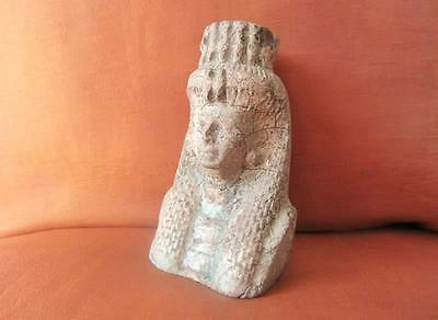 Antique Egyptian Head Statue of Ancient Queen Tiye Collection Sculpture.....RARE
