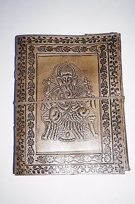 Book Leather Wicca spell Journal Keepsake handmade diary wisdom Ganesha