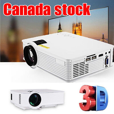 Home Moive Theater HD LCD 800 LM Multimedia Video TV/HDMI 1080P 3D TV  Projector