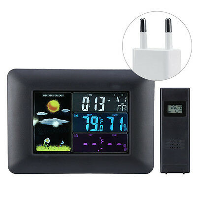 LCD Screen Digital Clock Car Voltmeter Thermometer Hygrometer Weather Forecast
