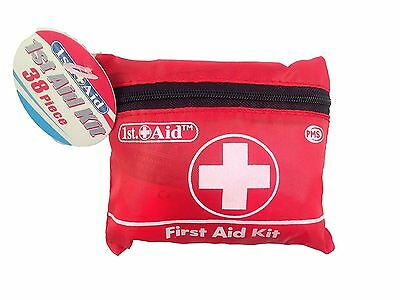 1st Aid - 38 Piece First Aid Kit Brand New Emergency Camping Festival Safety