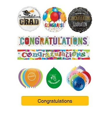 CONGRATULATIONS / GRADUATION Party Banners, Balloons, Decorations, Foil Balloons