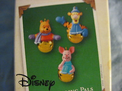 2003 Hallmark RING-A-LING PALS Ornament WINNIE THE POOH Set of 3 Miniature NEW