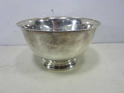 """Gorham Paul Revere Reproduction Sterling Footed Bowl """"C"""" Monogram"""