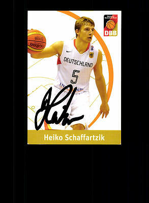 Heiko Schaffartzik Deutscher Basketball Bund Original Basketball + A 157069