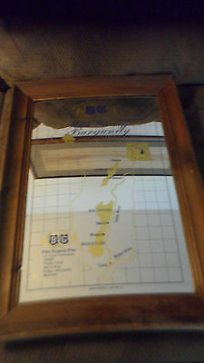 Rare B & G Barton & Guestier French White Wines Framed Beer Mirror Sign