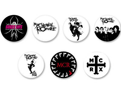 Lot Pack Badge Button Ø25mm My Chemical Romance Rock US