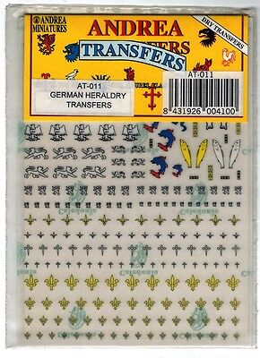 Andrea Miniatures At-011 Dry Transfers - Heraldry German Transfer