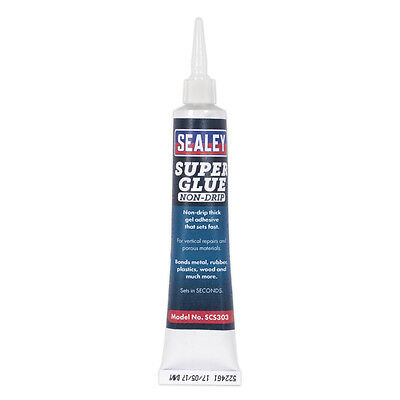 Genuine SEALEY SCS303 | Super Glue yesn-Drip Gel 20g Pack of 20
