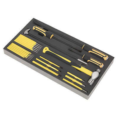 Genuine SEALEY S01131 | Tool Tray with Prybar, Hammer & Punch Set 23pc