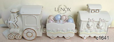 Lenox Occasions EASTER TRAIN (Set of 3) Figurine NEW in box