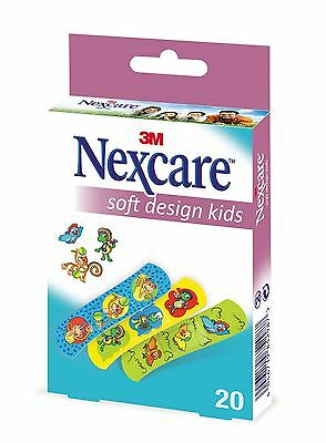 Nexcare Soft Kids Design Plasters - Pack of 20
