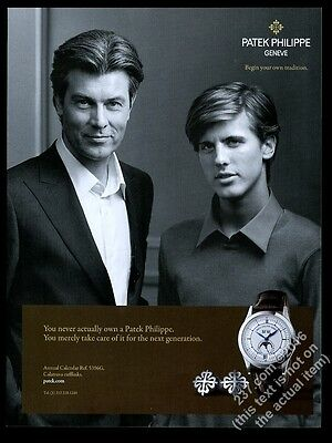 2009 Patek Philippe Annual Calendar Moon Phase watch photo vintage print ad