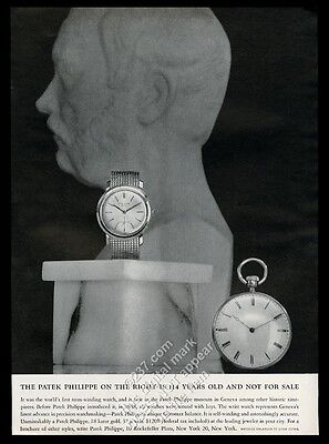 1961 Patek Philippe 37 jewel watch and 1848 watch photo vintage print ad