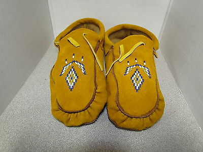 Beautiful Native American Beaded Moccasins- 10 Inches