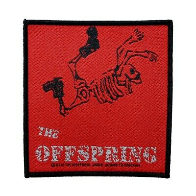 The Offspring Skeleton Patch Band Art Punk Rock Music Woven Sew On Applique