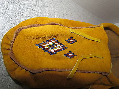 Beautiful Native American Beaded Moccasins - 10 Inches