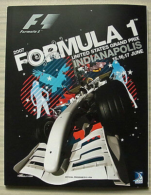 UNITED STATES GRAND PRIX 2007 FORMULA ONE F1 INDIANAPOLIS Official Programme