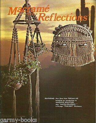 Macrame Reflections Thelma Lee Originals Vintage Pattern Instruction Book NEW