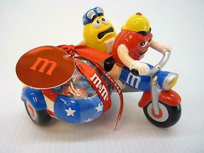 M&M's 2 Guys On Motorcycle With Sidecar Candy Dish NEW (h2867)