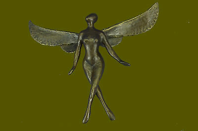 Vintage Art Deco Nouveau French Pure Bronze Angel Cherub Modern Art Sale Figure